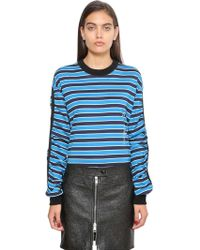 Givenchy - Striped Cotton Jersey Sweatshirt - Lyst