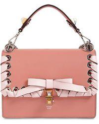Fendi - Medium Kan I Lace-up Leather Bag - Lyst