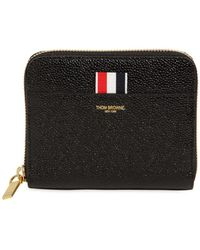 Thom Browne - Small Patent Leather Zip Around Wallet - Lyst