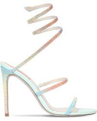 Rene Caovilla - 105mm Rainbow Embellished Satin Sandals - Lyst