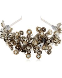 Deepa Gurnani - Floral Embellished Headband - Lyst