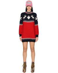 DSquared² - Intarsia Wool Knit Dress - Lyst