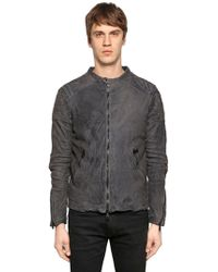 Giorgio Brato - Washed Reversed Leather Jacket - Lyst