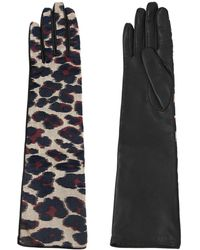 Lanvin | Shiny Leopard Jacquard Gloves | Lyst