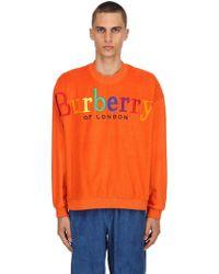Burberry - Rainbow Logo French Terry Sweatshirt - Lyst