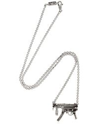 Cantini Mc Firenze - Gun Pendant Silver Necklace - Lyst