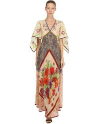 DSquared² - Printed Chiffon Embroidered Gown - Lyst
