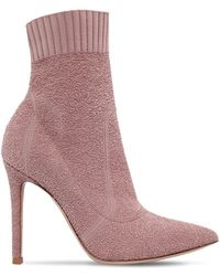 Gianvito Rossi - 100mm Fiona Boucle Knit Boots - Lyst