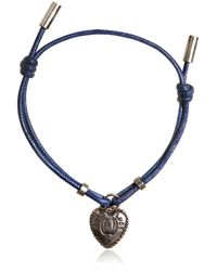 Dolce & Gabbana | Waxed Strap & Metal Chain Bracelet | Lyst