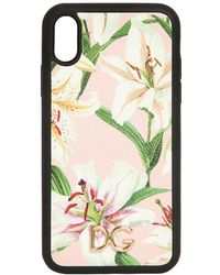 Dolce & Gabbana - Lily Print I Phone Xr Cover - Lyst