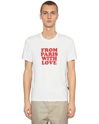 """AMI - """"Camiseta De Jersey """"""""from Paris With Love"""""""""""" - Lyst"""
