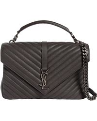 Saint Laurent - Large University Monogram Leather Bag - Lyst