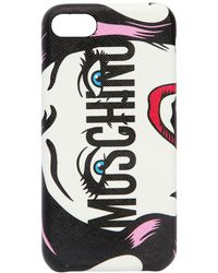 Moschino - Eyes Logo Printed Iphone 8 Cover - Lyst