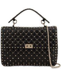 Valentino - Maxi Spike Leather Shoulder Bag - Lyst