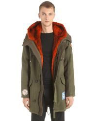 Yves Salomon - Army Wool Gabardine Parka W/ Fur Lining - Lyst