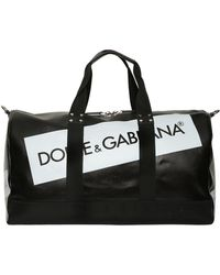 Dolce & Gabbana - Logo Tape Coated Canvas Duffle Bag - Lyst