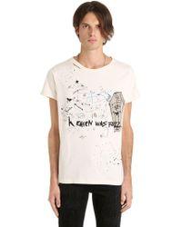Garçons Infideles - Heaven Was Full Print Distressed T-shirt - Lyst