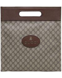 Gucci - Gg Supreme & Leather Medium Tote - Lyst