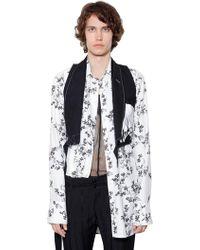 Ann Demeulemeester | Wrinkled & Embroidered Virgin Wool Vest | Lyst