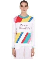 Giada Benincasa - Ciao Amore Embroidered Intarsia Sweater - Lyst