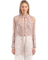CALVIN KLEIN 205W39NYC - Floral Printed Silk Shirt - Lyst
