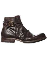 Shoto | Vintage Effect Washed Leather Boots | Lyst