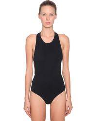 Alexander Wang - Crisscross Straps Jersey Bodysuit - Lyst