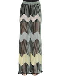 M Missoni | Plisse Cotton & Lurex Wide Leg Pants | Lyst