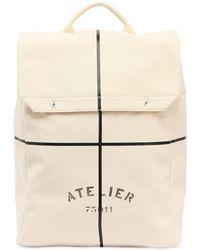 Maison Margiela - Atelier Printed Cotton Canvas Backpack - Lyst