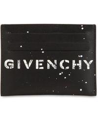 Givenchy - Graffiti Logo Leather Billfold Wallet - Lyst