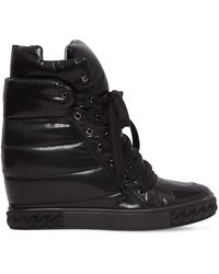 Casadei - 80mm Quilted Nylon Wedged Trainers - Lyst