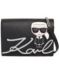 Karl Lagerfeld   K/ikonik Faux Leather Shoulder Bag   Lyst