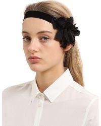 Scha   Flower Big V Headband   Lyst