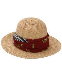 Borsalino - Straw Hat W/ Bandana - Lyst