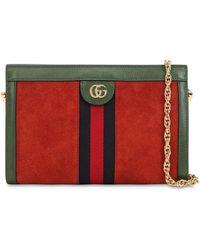 Gucci - Ophidia Suede Shoulder Bag - Lyst