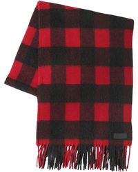 DSquared² - Check Wool & Alpaca Blend Scarf - Lyst
