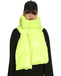 Juun.J Nylon Down Hood Scarf - Multicolour