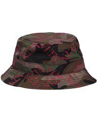 Valentino - Logo Camouflage Nylon Bucket Hat - Lyst