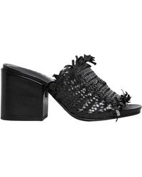 Strategia - 80mm Fringed Woven Leather Mules - Lyst