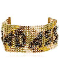 Bijoux De Famille - Badass Beaded Cuff Bracelet - Lyst