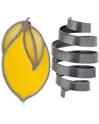 Jacquemus - Le Citron Brass Earrings - Lyst