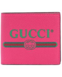 Gucci - 1980's Printed Leather Wallet - Lyst