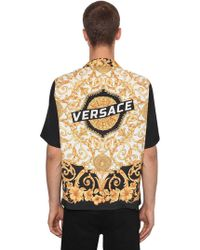 """Versace - """"Camicia Bowling """"""""hibiscus Heritage"""""""""""" - Lyst"""