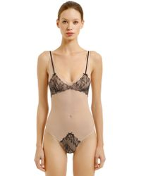 Chantal Thomass - Intuition Tulle & Lace Bodysuit - Lyst