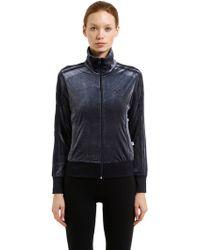 adidas Originals - Firebird Plush Velvet Track Jacket - Lyst
