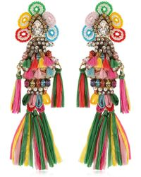 Shourouk - Parrots Multi Clip-on Earrings - Lyst