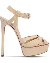 Casadei - 140mm Leather Sandals - Lyst
