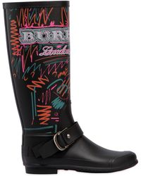 Burberry - 20mm Pip Field Doodle Rubber Rain Boots - Lyst