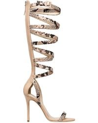 Giuseppe Zanotti - 105mm Snake Printed Leather Sandals - Lyst