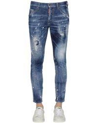 DSquared² 15cm Enge Jeans Aus Baumwolldenim